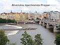 Riverview DeLuxe Apartmán Praha Pohled do ulice