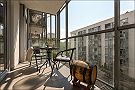 Beautiful apartment in Warsaw Balkon